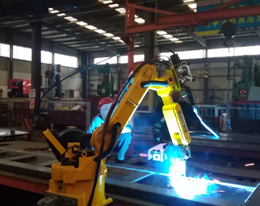 Welding robot for carriage board